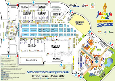 Jakarta Fair 2012 Denah