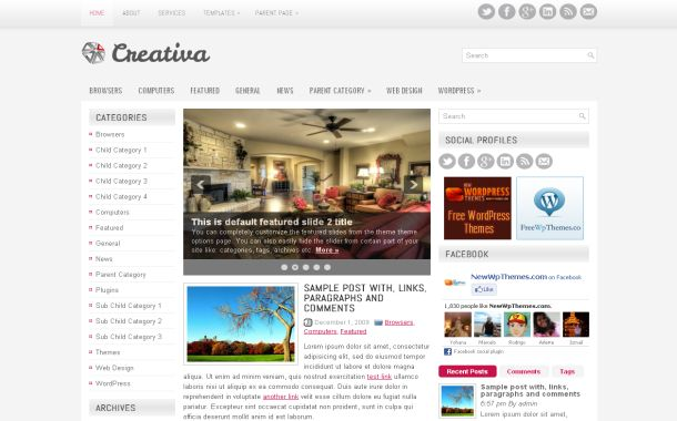 Creative Business Free WordPress Theme Template