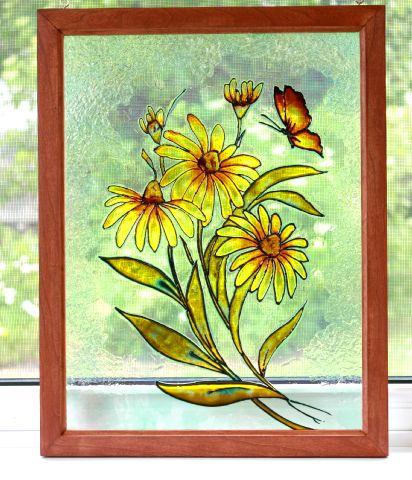 L 39 atelier de francine 10 07 11 17 07 11 for Faux vitrail sur miroir