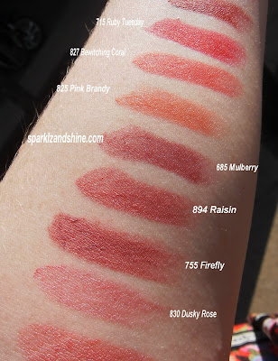 Max Factor Elixir swatches