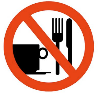 sign showing no food and drink 
