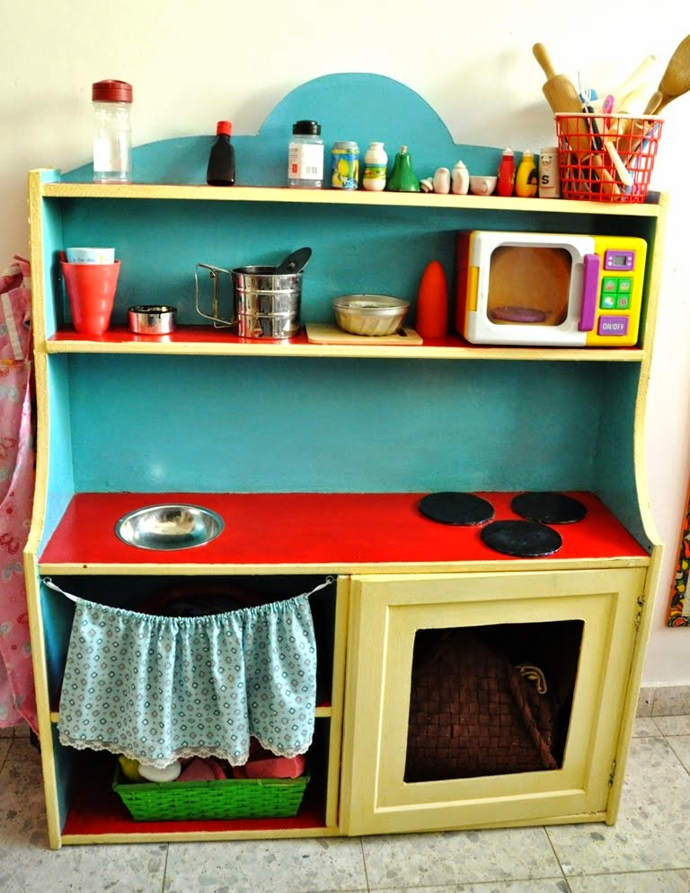 ikea cupboard turned children play kitchen