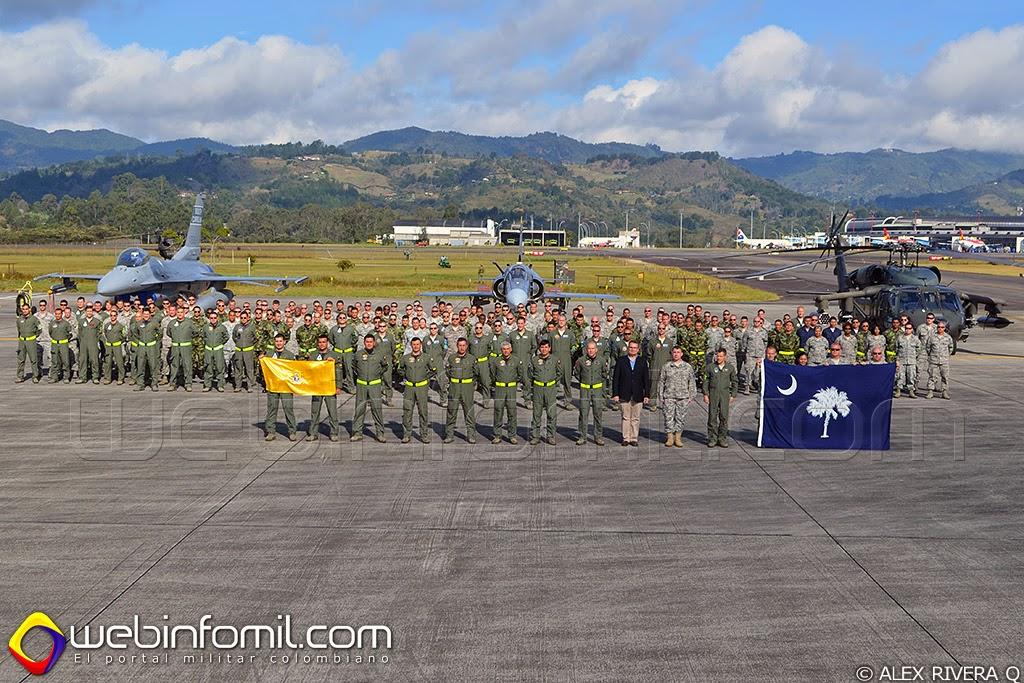 Ejercicios Relampago 2014 Fuerza Aerea Colombiana