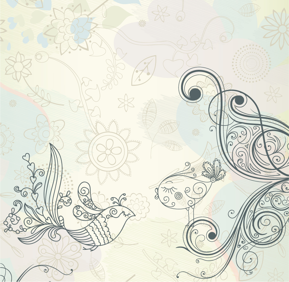 レトロな線画パターンの背景 Retro pattern vector background イラスト素材