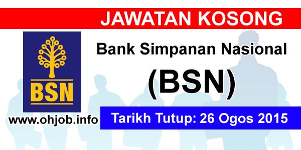 Jawatan Kerja Kosong Bank Simpanan Nasional (BSN) logo www.ohjob.info ogos 2015