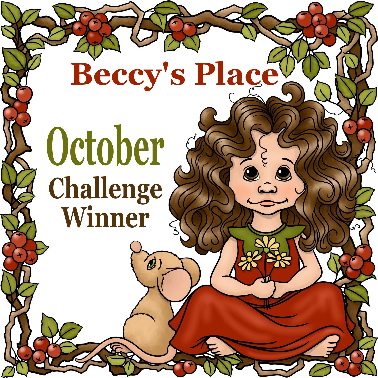 October Winner at Beccy's Place