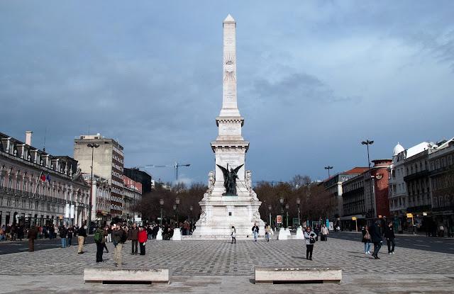 Plaza praça Restauradores Lisboa Portugal