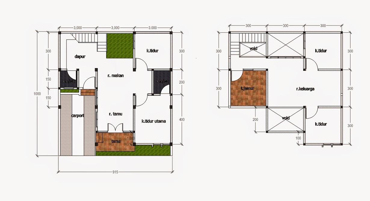 rencana rumah 9 x 10