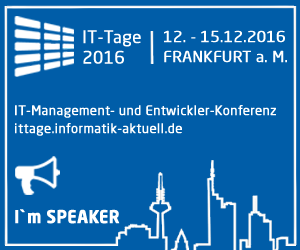 Speaker IT-Tage 2016