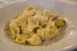 Meat-filled tortellini