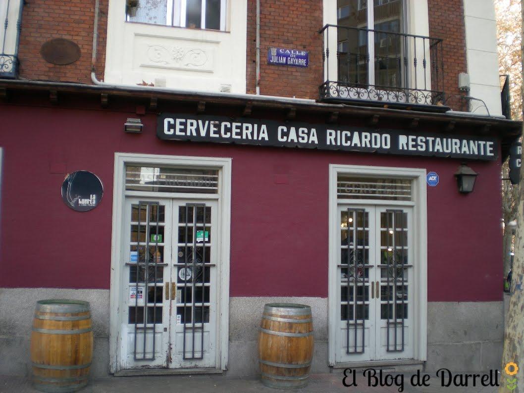 El blog de darrell un buen sitio para comer cal ots en madrid el restaurante huerta casa ricardo - Casa ricardo madrid ...