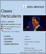 Ariel Mackay Profesor de Canto y Guitarra, Teoría Musical