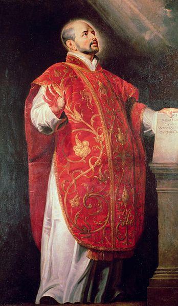 Pintura San Ignacio de Loyola fundador de la Compañía de Jesús Obra de Peter Paul Rubens