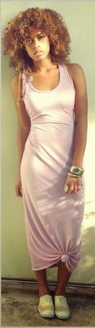 Moda - Maxissaia vestido rosa com nós - tendências verão 2015