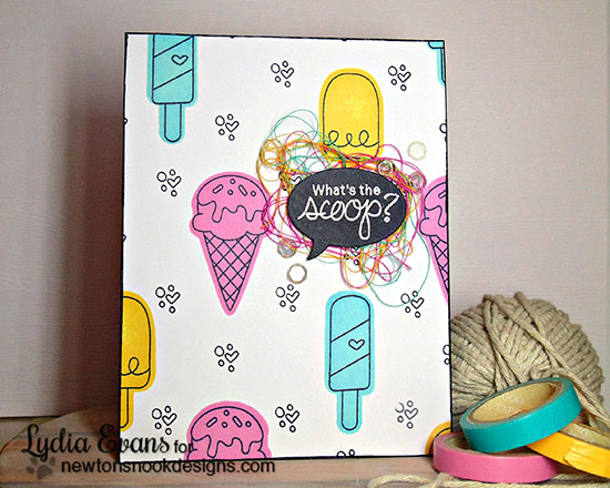 Ice Cream Card by Lydia Evans| Summer Scoops Stamp set by Newton's Nook Designs