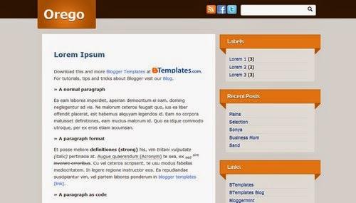 Orego - Free Blogger Template