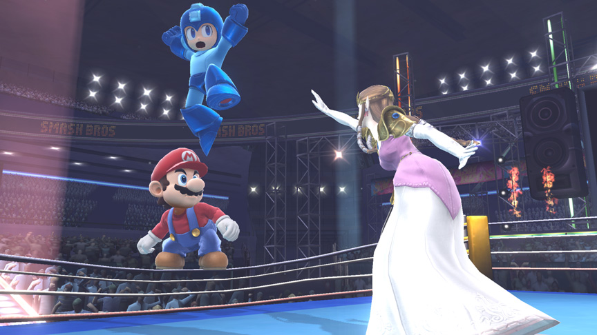 Boxing Ring Spring Jumps in Smash Bros