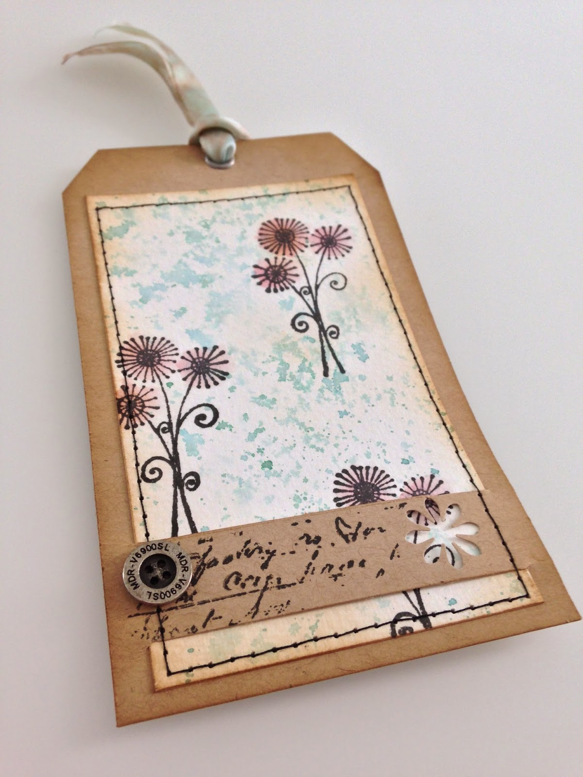 Tim Holtz, Distress Ink, 12 tags of 2015-April