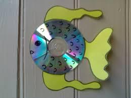 Поделки из дисков животные
