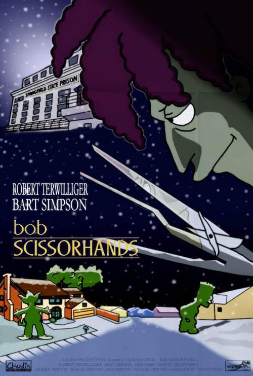 posters cinema simpsons - Edward Scissorhands