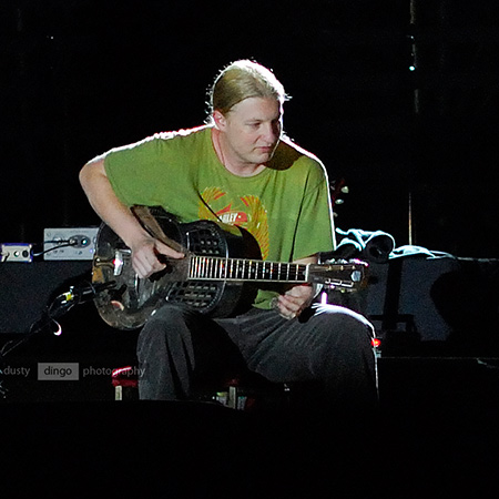Derek Trucks, on stage with Eric Clapton. Perth 2007. Copyright Sheldon Levis 2011