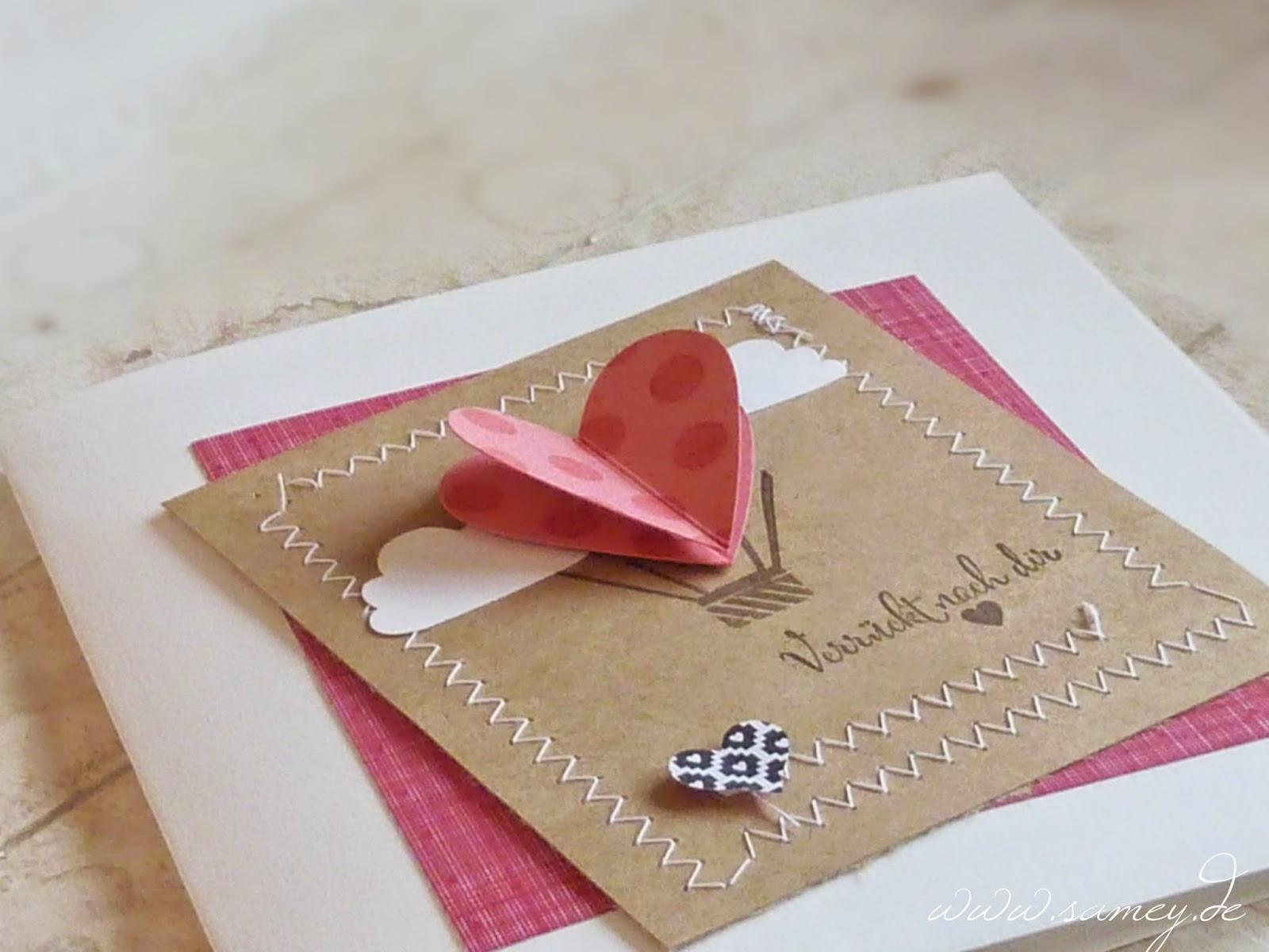 Valentinsgrußkarte verrückt nach dir