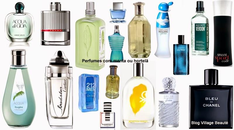 Sugestões Dâmaris de Perfumes que têm cheiro de Menta / Hortelã - para homens e mulheres.