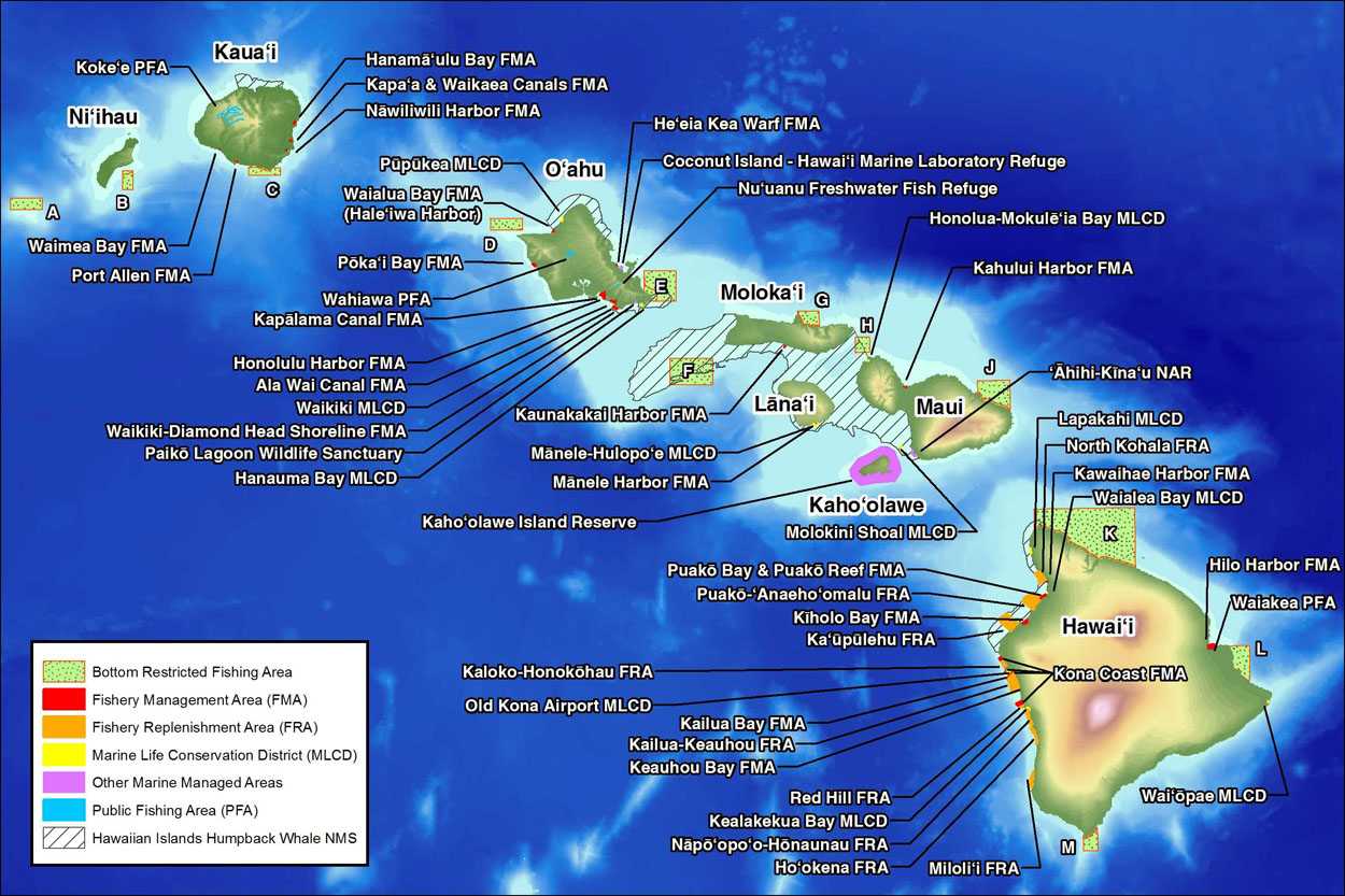 Reference Map Of Hawaii USA Nations Online Project Karte Von - Map usa hawaii