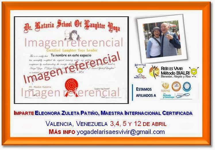 Esperen nuevas fechas para Certificación Internacional de Líderes en Yoga de la Risa en Venezuela