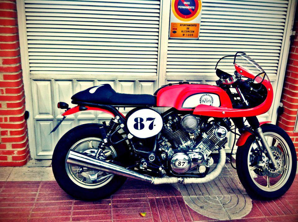 Free The Wheels     Yamaha Virago 750 Caf U00e9