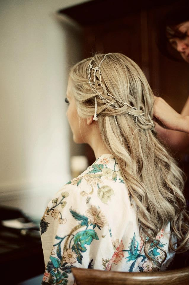 Bridal hair accessories claires : Rangoli jewellery and hair accessories by aisling nelson bride claire marries brooks