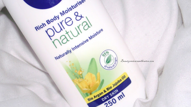 Nivea Pure & Natural Rich Body Moisturiser With Bio Argan & Bio Jojoba Oil Review