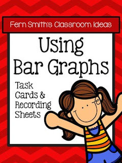 Fern Smith's Classroom Ideas Using Bar Graphs Task Cards, Recording Sheets and Answer Keys with no Common Core at TeacherspayTeachers.
