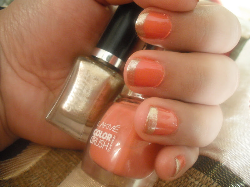 Lakme Color Crush Nail Paint 19 Peachy Coral Shade Review And NOTD
