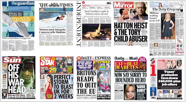 front pages 18-01-16