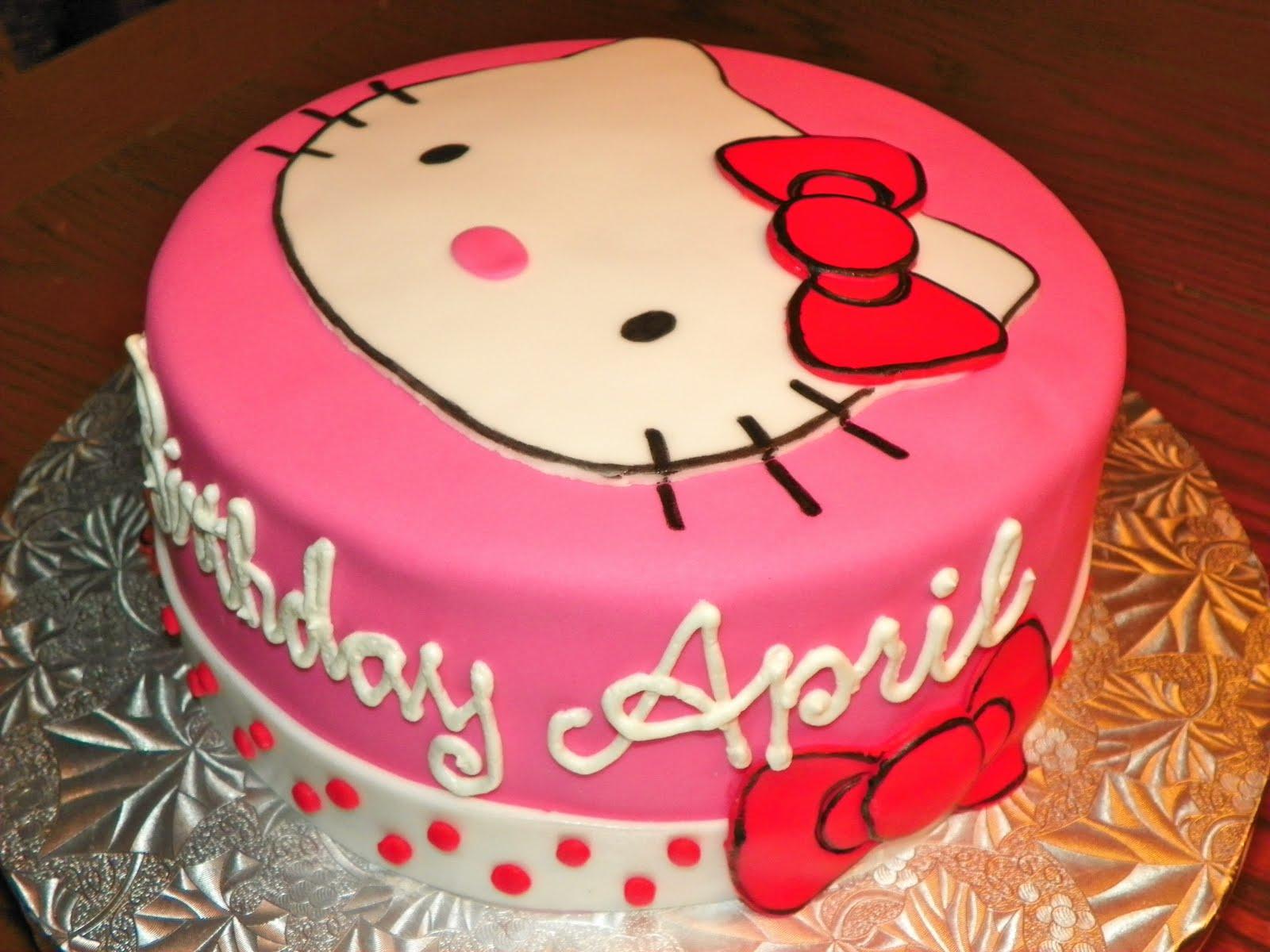 Plumeria Cake Studio: Hello Kitty Face Cake