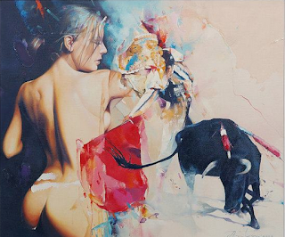 Flamantes Pinturas Modernas Mujeres Caballos