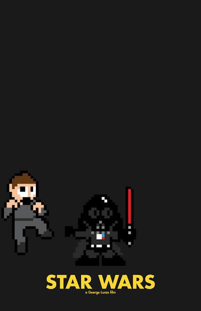 poster 8 bit star wars