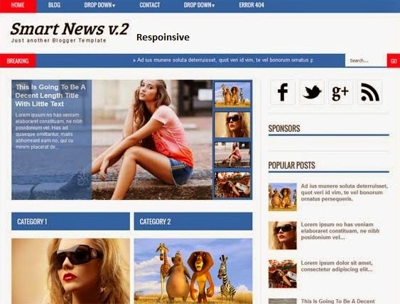 Themese Blogger respoinsive Smart News version 2