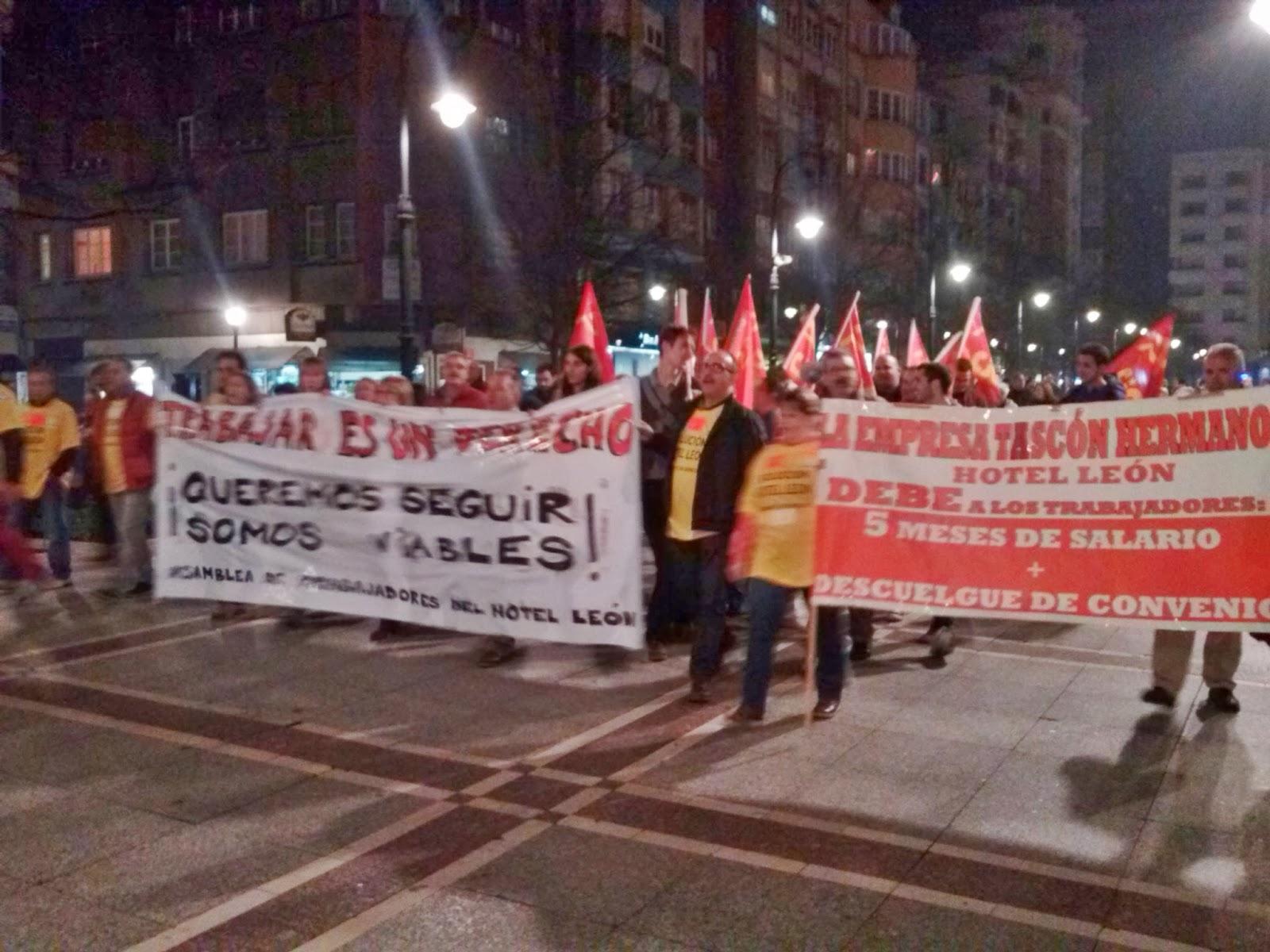 CJC-PCPE apoyando a los trabajadores del Hotel León en Gijón Hotel+Leon+(9)