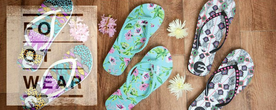 f219dc6cbed Billabong has just what you need this season with an extensive range of ladies  flip-flops in an eye dazzling array of colours and styles.Hot foot it down  to ...
