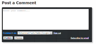 default comment box