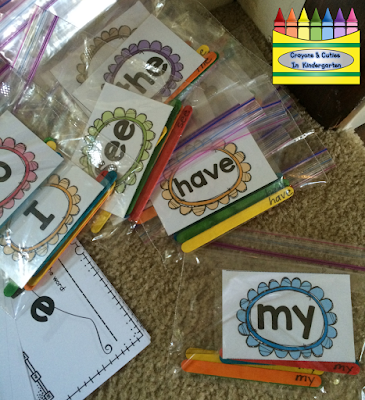my  Books sight for .Sight Word Organizing  Mini mini Word  kindergarten Binder word Kindergarten: books Sight