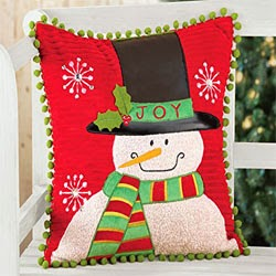 Snowman Christmas Decorative Pillow Cover