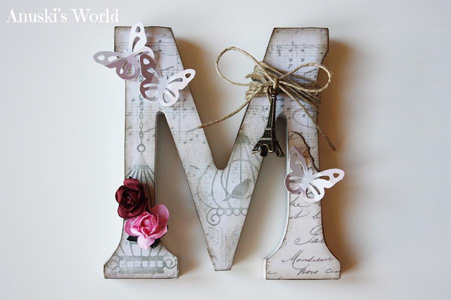 Marcos de fotos - Letras de corcho decoradas ...
