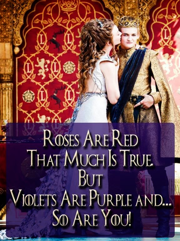 #GameOfThrones Roses Are Red, You Are Purple, Wedding Meme