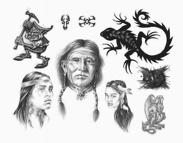 Apache Indian Tattoo Designs