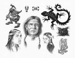 Tattoos Designs Art: Apache Indian Tattoo Designs - Tattoo Flash