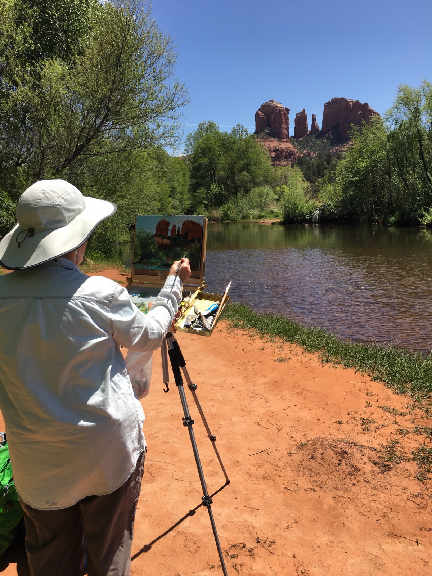 SPRING PAINTING IN SEDONA
