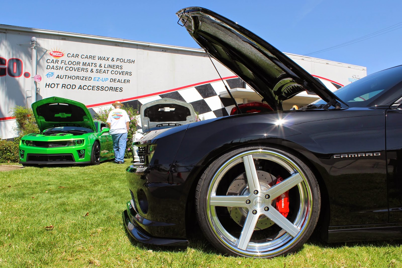 Covering Classic Cars GM Muscle Car Show At California Car Cover - Car show floor covering